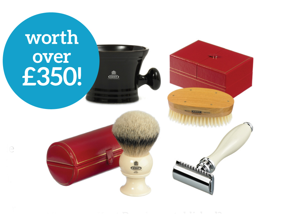 Win four luxury men?s shaving and hair products from Kent Brushes worth over ?350!