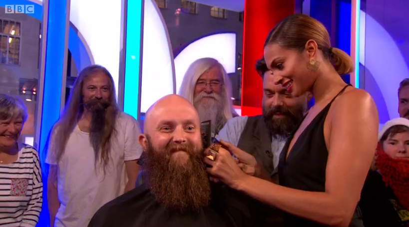 Ruffians show the world that beard trimming is 'not as easy as it looks'!