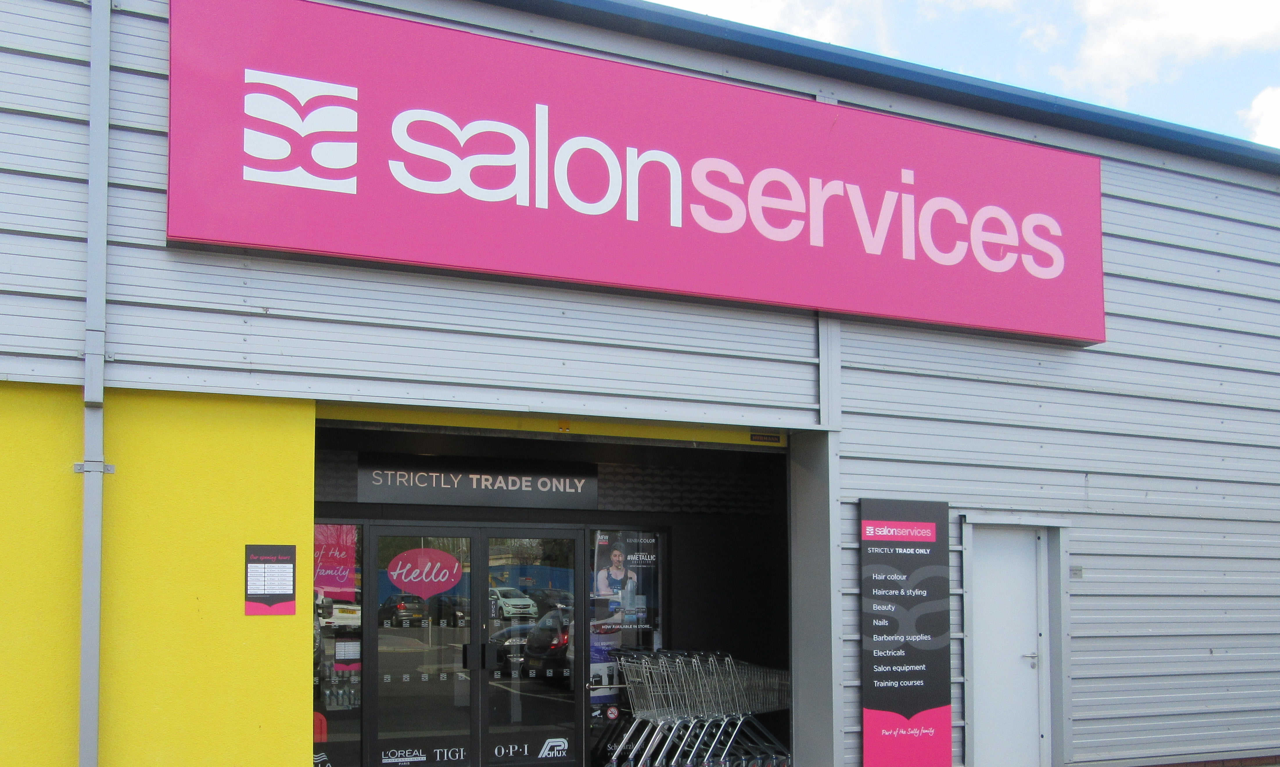 Trade only sally salon services opens in glasgow modern for About salon services