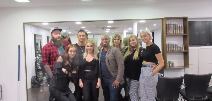 ClubStar Art Team spend day with Chris Foster