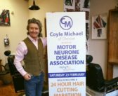 Coyle Michael's 24-hour barbering marathon for MND