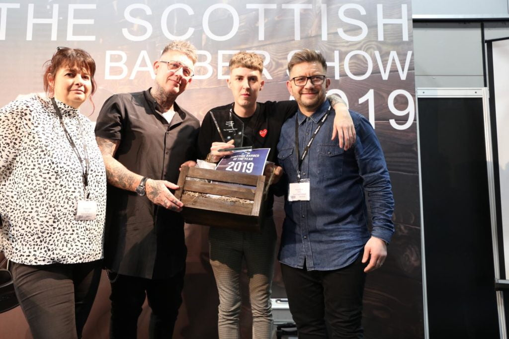 James Johnstone wins Scottish Best Barber