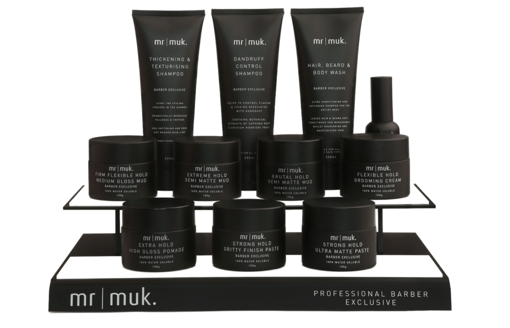 WIN MR MUK Professional Barber Exclusive Retail Stand worth £262.50 inc VAT.
