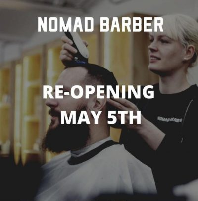 Nomad Barber (Berlin) is OPEN and fully booked