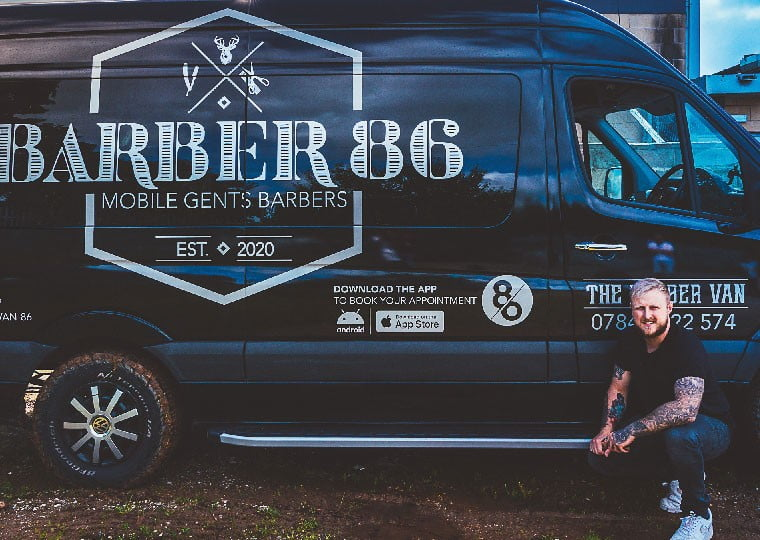 Meet the Barber86 Barber Van man