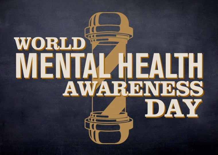 Which London barbers has partnered with TV channel Dave for World Mental Health Day?