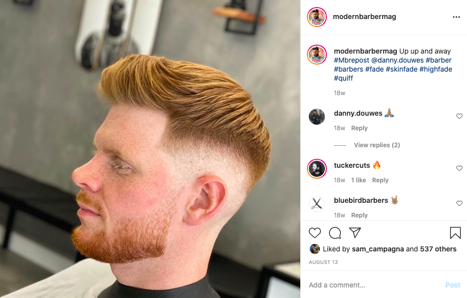 @danny.douwes most liked instagram barber images